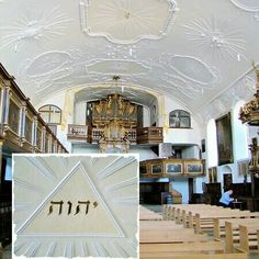 Jehovah written in Hebrew on ceiling of the St. Ulrich and Afra Church in Augsburg  #Tetragrammaton  #Jehovah #Godsname #DivineName #Bible