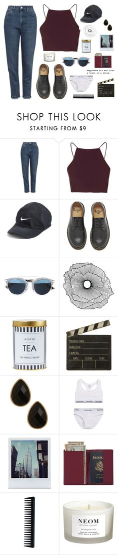"""not antisocial, anti idiot."" by dejoliesfleurs ❤ liked on Polyvore featuring Topshop, NIKE, Dr. Martens, Christian Dior, Home Decorators Collection, Ballard Designs, Natasha Accessories, Calvin Klein Underwear, Polaroid and Royce Leather"