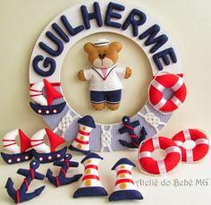 Ateliê do Bebê MG: Guirlanda Ursinho Marinheiro (Guilherme)
