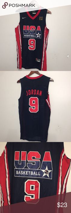 USA Basketball Jersey USA Jersey with Jordan #9 in the back of it  Nothing wrong with it Once worn a few times Shirts