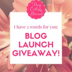 Our Blog Launch Give