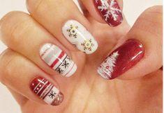Xmas Nails, New Year's Nails, Bling Nails, Christmas Nails, Toe Nails, Fingernail Designs, Toe Nail Designs, Holiday Nail Art, Christmas Nail Designs
