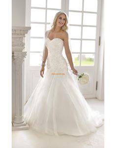 Jaro 2014 Přesýpací hodiny Nášivky Designer Svatební šaty