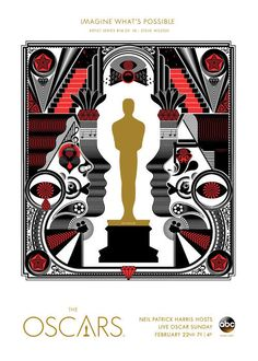 Oscars Art Series: Artists Create Posters For The Academy Awards. Poster Series, Art Series, Oscars, Oscar Academy Awards, Creativity Online, Keys Art, Oscar Party, International Artist, Art And Architecture