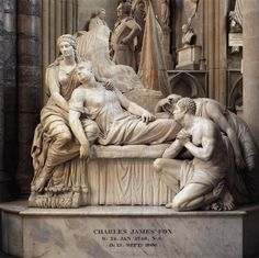 Monument to Charles James Fox - 1810-23. Marble. Westminster Abbey, London