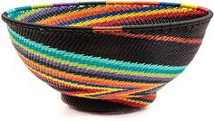 African Basket - Zulu Wire - Bowl with Base 39737