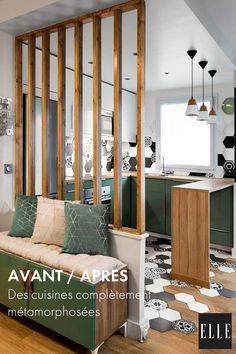 Living Room Partition Design, Room Partition Designs, Home Design, Interior Design, Home Staging, Room Decor Bedroom, Inspirer, Diy Home Decor, New Homes