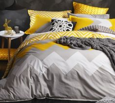 Logan Mason Marley Yellow Quilt Cover Set