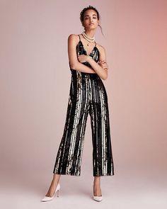 064ded13e03 Bardot - Goldie Sequin-Stripe Jumpsuit Striped Jumpsuit