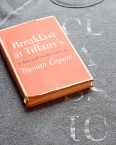 Breakfast at Tiffany's (1958) by Truman Capote, first edition book cover