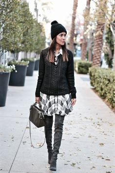 Layering up in a jumper and pom beanie from marshalls- fall layers, winter layers