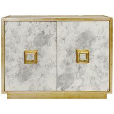 Worlds Away Antique Mirror 2 Door Cabinet WINSLOW AMG