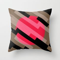 Diagonal Throw Pillow  #throwpillow #accentpillow #homedecor #homeaccents #pillow #design #jensenmerrell #society6