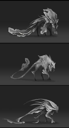 ArtStation - Sand Beast, Mahea Rodrigues - Welten - These Monster Art, Monster Concept Art, Alien Concept Art, Creature Concept Art, Monster Design, Creature Design, Monster Hunter, Mythical Creatures Art, Alien Creatures