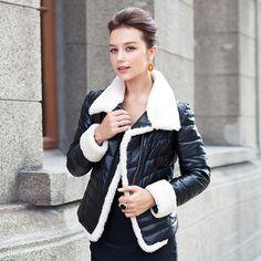 The new leather jacket leather jacket women short paragraph Slim Jacket USD$199.75