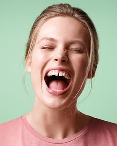 BEVOLA // Photography by Sandro Baebler c/o Severin Wendeler Color Photography, Beauty Photography, Portrait Photography, Creative Portraits, Studio Portraits, Girl Face, Woman Face, Gap Teeth, Beauty Editorial