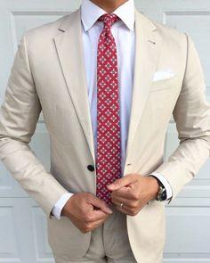 Ein heller & frischer Look für den Montag - als Highlight unsere Talavera Krawatte CS7082