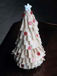Coffee Filter Christmas Tree - Crafts by Amanda