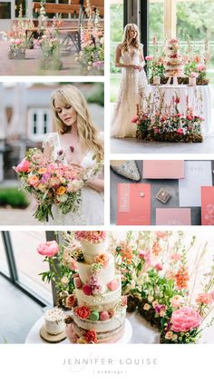 Coral wedding inspiration with meadow flowers | Styled shoot with summer wedding inspiration and bright pink colours | View more romantic summer wedding ideas | english summer wedding | english country house wedding | wedding floral arrangements | coral wedding colors | bright pink wedding | bold wedding colors | summer wedding elegant | romantic weddings | wildflower wedding theme | meadow wedding decor | luxury summer wedding | semi naked wedding cake #coralpink #summerwedding Wildflower Bridal Bouquets, Peony Bouquet Wedding, Wedding Flower Arrangements, Floral Arrangements, Wedding Flowers, Bright Wedding Colors, Summer Wedding Colors, Bright Pink, Garden Weddings