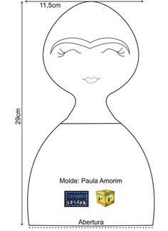 Mãe & Filha Artesanatos: Molde Frida_By Kátia Callaça