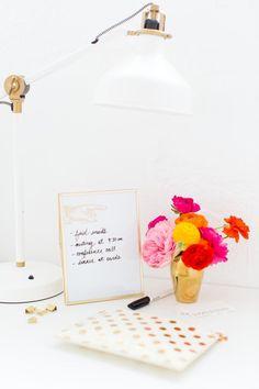 DIY Desktop Dry Erase Board