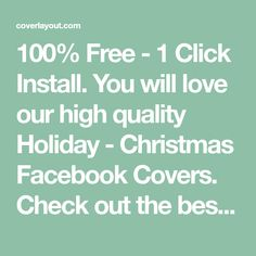 100% Free - 1 Click Install. You will love our high quality Holiday - Christmas Facebook Covers. Check out the best of Holiday - Christmas FB Covers, Constantly updating new Holiday - Christmas Facebook Timeline Covers.
