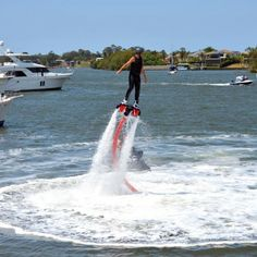 The Flyboard X excited the crowds with a spectacular on water show