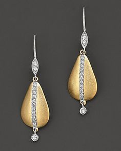 Meira T Diamond and 14K Yellow Gold Drop Earrings   Bloomingdale's
