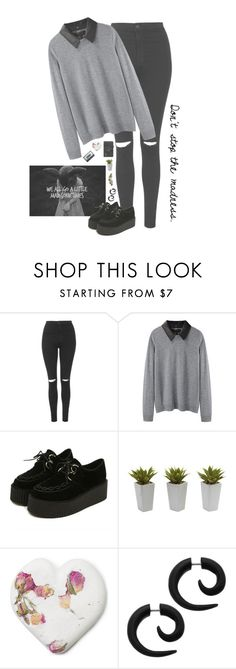 """Ԁȏṅ'ṭ ṡṭȏƿ ṭһє ṃѧԀṅєṡṡ."" by piercetheeden-loves-5sos ❤ liked on Polyvore featuring Topshop, rag & bone, Nearly Natural and ...Lost"