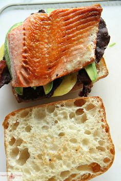 Crispy Salmon, Bacon and Avocado Sandwich by Heather Christo