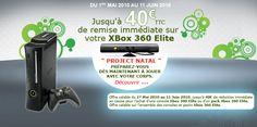 Jusqu'à 40€ TTC  de remise immédiate sur votre XBox 360 Elite