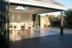 bi folding doors on an extension - Google Search