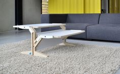 Vegetale Coffee Table by Rform. Multifunctional coffee table handmade in sustainable birch plywood.