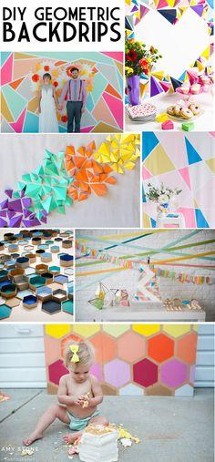 DIY Geometric Backdrop Ideas on Love The Day