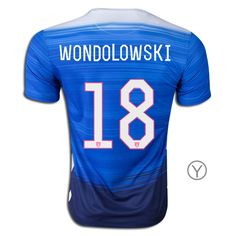 2015 Chris Wondolowski Youth Away Jersey #18 USA Soccer