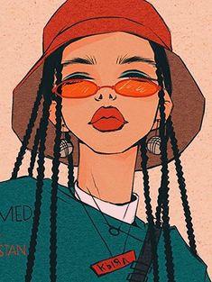 New Art Sketches Cool Art Drawings, Art Drawings Sketches, Drawing Art, Hipster Drawings, Drawing Ideas, Arte Grunge, Grunge Art, Arte Sketchbook, Black Girl Art