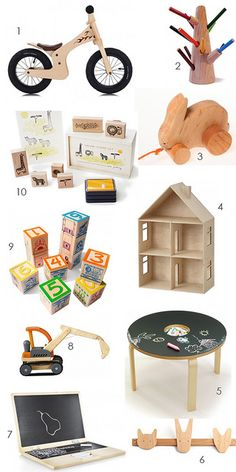 gift ideas: toys made of wood by the style files, via Flickr @roger french