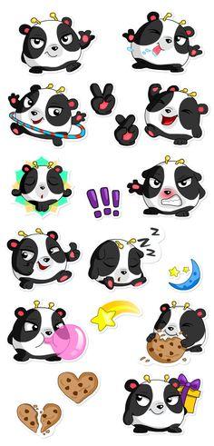 Cheerful sticker set
