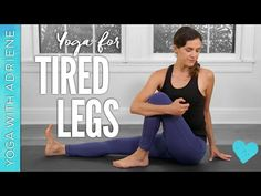 Yoga For Tired Legs min.) - Yoga With Adriene - Find What Feels Good - Yoga with Adriene Yoga Sequences, Yoga Poses, Sore Legs, Free Yoga Videos, Yoga With Adriene, Different Types Of Yoga, Youtube Workout, Basic Yoga, Restorative Yoga