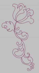 Redwork free machine embroidery design. Machine embroidery design. www.embroideres.com