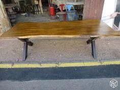 Table de ferme industrielle loft métier 250 cm