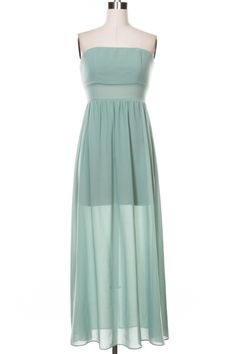 Solid tube maxi dress