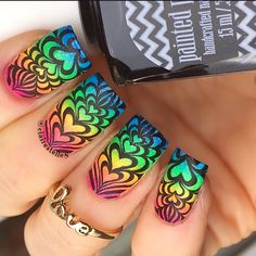 Bloggers You Should Know: Claire O'Sullivan of @Clairestelle8 - stacked hearts water marble stamping