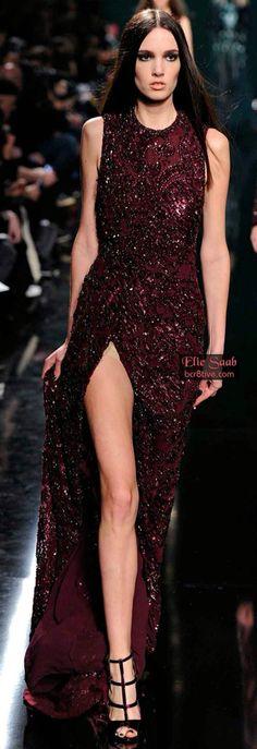 Rosamaria G Frangini | Burgundy Desire | Haute Couture | VIPBlackOrchidClub | Burgundy