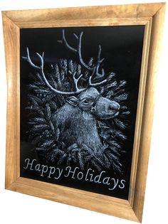 Reindeer in a wreath