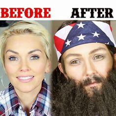 How To Get Your FAKE BEARD on and Look Willie Robertson from Duck Dynasty: