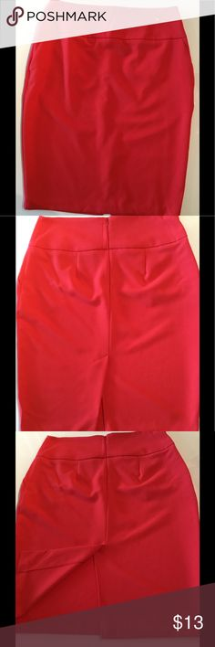 Professional Wear Pencil Skirt Great condition, orange/red pencil skirt. Knee length. Perfect for an office environment or a cute dinner outfit! Metaphor Skirts Pencil