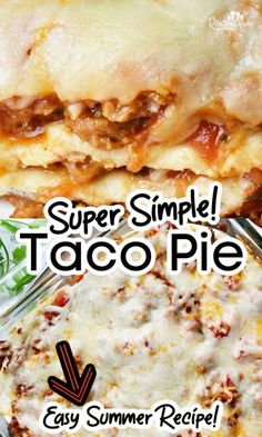 Taco pie from Pint-sized Treasures is a super easy recipe that I've been making for over 15 years! This taco pie recipe never fails, and you'll love how simple it is to make! This easy casserole recipe only takes 20 minutes to make for a quick and EASY dinner! Taco Pie Recipes, Mexican Food Recipes, Dinner Recipes, Ethnic Recipes, Easy Summer Meals, Summer Recipes, Easy Meals, Easter Salad, Taco Dinner
