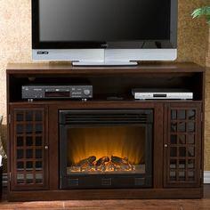 "Wildon Home ® Bismark 48"" TV Stand with Electric Fireplace | Wayfair"