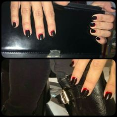 uñas rojo y negro